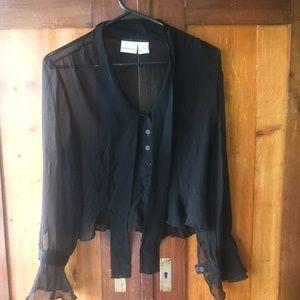 Silk Chiffon Goth Victorian Blouse